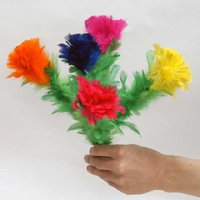 羽毛製の取り出し用、5輪の花束。【取出】