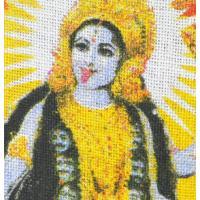 インドの黄麻 神様エコバッグ [シバとカーリー]