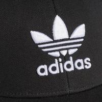 アディダス オリジナルス キャップ 帽子 ロゴキャップ ストラップバック スナップ メンズ レディース ワンポイント 黒 ブラック adidas Originals TREFOIL CAP