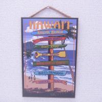 Made in USAのハワイアンインテリアプレート、木製看板です。 小さめのサイズなので玄関やトイ...