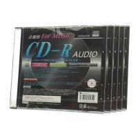 音楽用 CD-R AUDIOディスク 80min 5mmケース プリンタブル 5枚セット