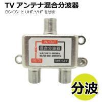 TVアンテナ分波器  BS/CS/UHF/VHF/FM/地デジ対応 テレビアンテナ分波器