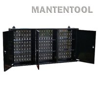 ウォールキャビネット 黒 壁掛け式工具箱・工具棚・ガレージウォールキャビネット