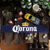 ボトルにライムをひとかけら突っ込んで、そのままラッパ飲み!「コロナビール」のラバー製バーマット!(*...
