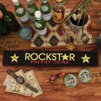 エナジードリンク「ROCKST☆R(ロックスター)」のラバー製バーマット!\( ̄∇ ̄+)  純粋にバ...