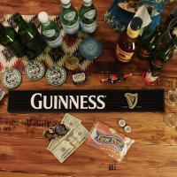 アイルランドのビール「GUINNESS(ギネス)」のラバー製バーマット!\( ̄∇ ̄+)  純粋にバー...