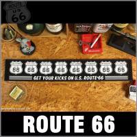 アメ雑の定番、ROUTE66のバーマット!\( ̄∇ ̄+)  純粋にバーマットとして使うのはもちろん、...