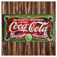 COCA COLA・コカコーラといえば真っ赤なサインを思い浮かべますが、これは少しアンティークで深み...