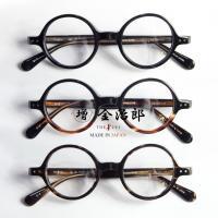 増永金治郎 THE291 鯖江製 C1 セルロイドフレーム セルロイド 黒縁メガネ MK-020/ 10金装飾 ラウンドフレーム 丸メガネ