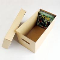 EP(7インチ)レコードの収納に適した組み立て式段ボールボックスです。2箱1セットでお届けします。 ...