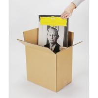 LP(12インチ)レコードを約50枚収納できる段ボールボックスです。二重段ボールを使用しています。1...