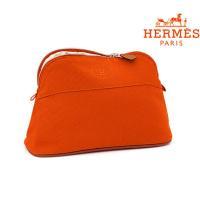 ■品 名■ HERMES コットンボリードポーチMM 26 ■カラー■ テラコッタ(オレンジ) ■サ...
