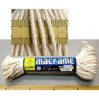 バッグやインテリア小物を作るマクラメ糸です マリヤ手芸店では、スチロボールに巻きつけてマスコットを作...