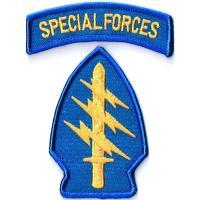 ワッペンサイズ特殊部隊軍章8cmx5cm+SPFタグ2cmx7.8cm刺繍ミリタリーワッペンアイロン...