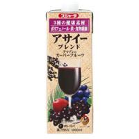 ■説明 ブラジル産のアサイー果実を使用したブレンド果汁飲料。 1000ml当たりポリフェノールが17...