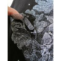 丸襟 ウール長袖 9号11号 黒 ピンク(カザミドリ ナイガイ)花柄