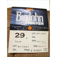 30inch メンズ コーデュロイパンツ ブラック(ビッグジョン BIG JOHN)MY1891
