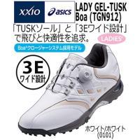 『アシックス LADY GEL-TUSK BOA スパイクレスシューズ 日本正規品 (TGN912)...