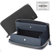 牛革にエンボス加工を施したスタンダードな長財布です。シンプルなルックスで、PORTERオリジナル金属...