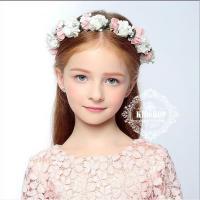 まるで花嫁さんのように可愛いフラワーベール 子供 髪飾り キッズ ベビー 結婚式 発表会 ジュニア ...