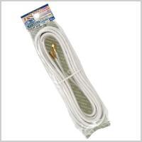 地上デジタル・BS110℃S・FM・CATV放送対応。 固定のしやすいF型接栓を、両端に使用している...