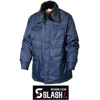 SLASH 防寒コート M~4L かんたん刺繍申込み シンメン 8200 カストロコート ドカジャン 襟ボア(脱着可) 防寒着 防寒服 作業服 作業着 安い