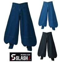 SLASH 超々ロング八分 デニム 鳶 M~4L 綿100% シンメン 822 かっこいい おしゃれ 安い 作業服 作業着 超超ロング 七分 三段鳶