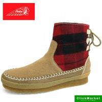 ■商品概要■ インディアン ショートブーツ ライトブラウン #3107 アッパー:天然皮革/ウール ...