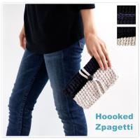 【Hooked Zpagetti フックドゥ ズパゲッティ】くるみボタン バイカラー ポーチ  人気...