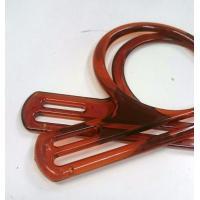 プラスチックの持ち手 茶色 2本組 幅19cm P75