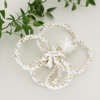 花結び ねじり髪飾り(完成型) カラー : 白 ラメ少々