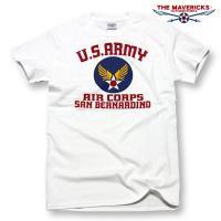 「THE MAVERICKS」ミリタリーTシャツ・6.1オンスUSコットンシリーズ  アメリカ陸軍航...