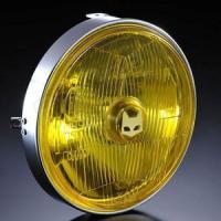 マーシャル ヘッドライト 889 汎用 ライトユニット イエロー バイク CB400SF ジェイド ブロス400 バリオス2 ゼファーχ W650 Z1 Z2 Z400FX Z750FX XJ400D