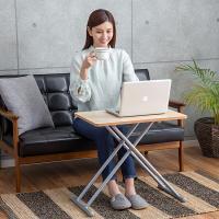 5段階調整ができ、サイドテーブルや作業台としても使える、マルチスライドテーブル!折りたたむと約8cm...