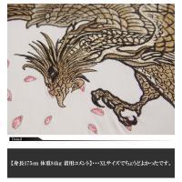 絡繰魂[からくりだましい] 鳳凰vs龍神 刺繍 和柄Tシャツ/半袖/262537/送料無料