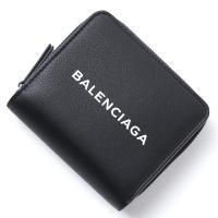 バレンシアガ BALENCIAGA 2つ折り財布 小銭入れ付き ブラック レディース プレゼント ギフト レザー 本革 ブラック クロ 黒 490618-dlq4n-1000 BILLFOLD