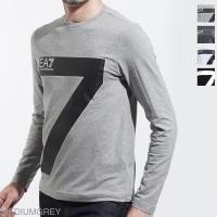 エンポリオアルマーニ EA7 EMPORIO ARMANI クルーネック 長袖 Tシャツ メンズ カットソー カジュアル インナー シンプル ロゴ 6zpt32-pj18z-3905