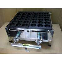 スタンダードな業務用たこ焼き器の2丁掛。プロパンガス(LPG)用です。 18穴の大たこ用 鉄板 2枚...