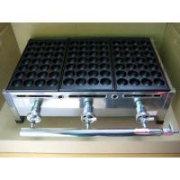 スタンダードな業務用たこ焼き器の3丁掛。プロパンガス(LPG)用です。 28穴の標準的な鉄板 3枚 ...