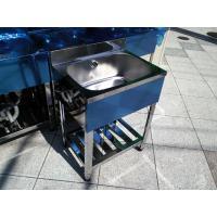 新品 [組立式] 業務用 ステンレス 1槽シンク(流し台) W600xD450xH800mm (バックガード付) [代引可]