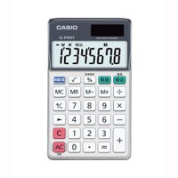 グリーン購入法適合電卓8桁手帳型電卓/エコ認証06135002特大表示/4メモリー/時間計算<...