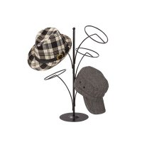 【即納】 帽子5点掛けスタンド 黒