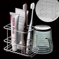 ●歯磨き用品をコンパクト収納できる歯ブラシスタンドです。●丈夫でサビないステンレス製です。●便利なコ...