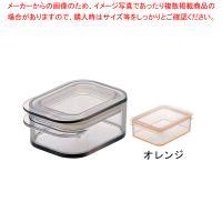 ●商品名:テンガ 保存容器 レクタングル P-1オレンジ ●寸法(mm):93×65×高さ40●容量...