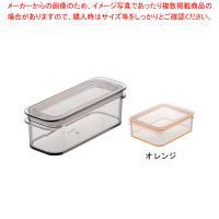 ●商品名:テンガ 保存容器 レクタングル P-2オレンジ ●寸法(mm):186×65×高さ60●容...
