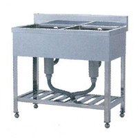 送料無料 ●商品名:業務用 シンク二槽シンク 厨房シンク 厨房機器 シンク W型 W-6045 60...