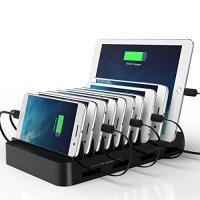 USB 充電スタンド スマホ 収納スッキリ 充電ステーション 自動巻取 iphone 充電スタンド ...