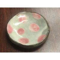 86g  醤油さしにちょうどいいサイズのお皿。 読谷村、陶芸工房ふじの藤岡香奈子さんの作品です。