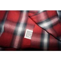 パープル&イエロー Purple&Yellow 長袖シャツ チェック 赤 メンズ ネルシャツ レッド 冬物