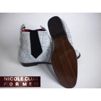 新品 ♪ ニコル サイドゴア ブーツ グレー系 25.5 ◆ 靴  b040